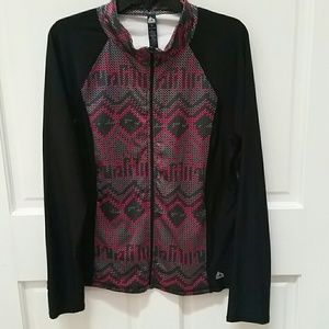 NWOT RBX Zip Up Jacket Size XL Black Pink